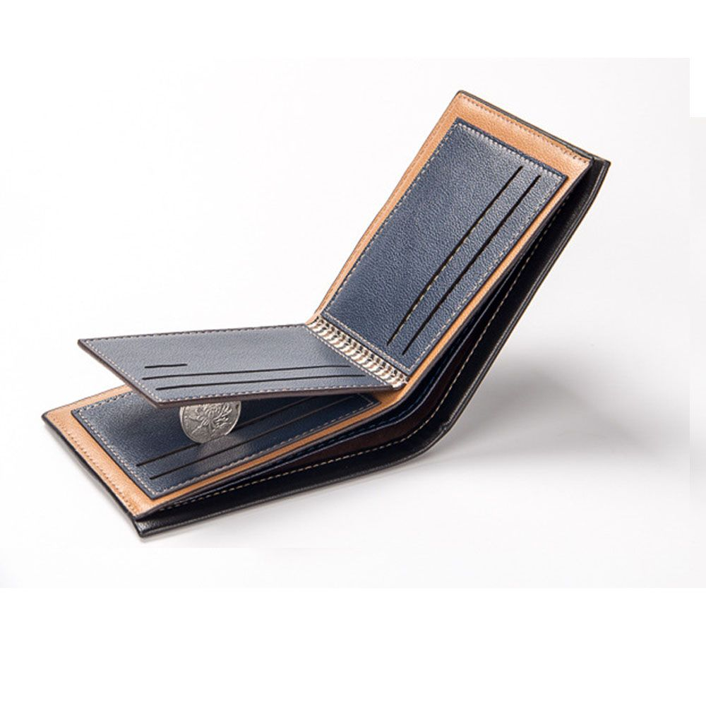 Men'S Short Section Multi-Card Holder Wallet Card