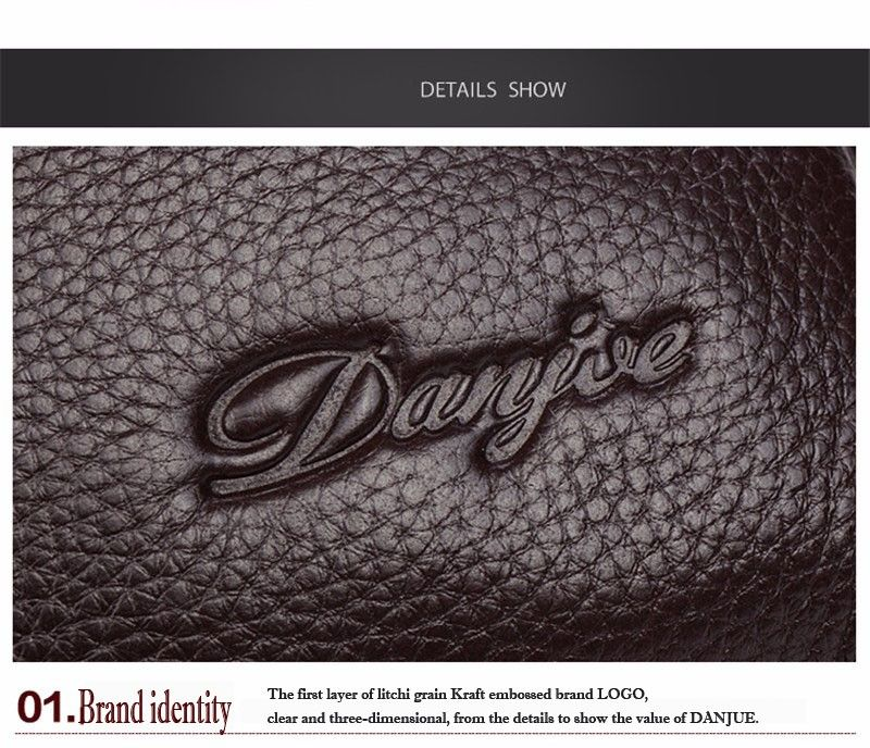 DANJUE Designer High Quality Genuine Leather Shoulder Bags For Men Real Cowhide Mini Messenger Crossbody Bags Business