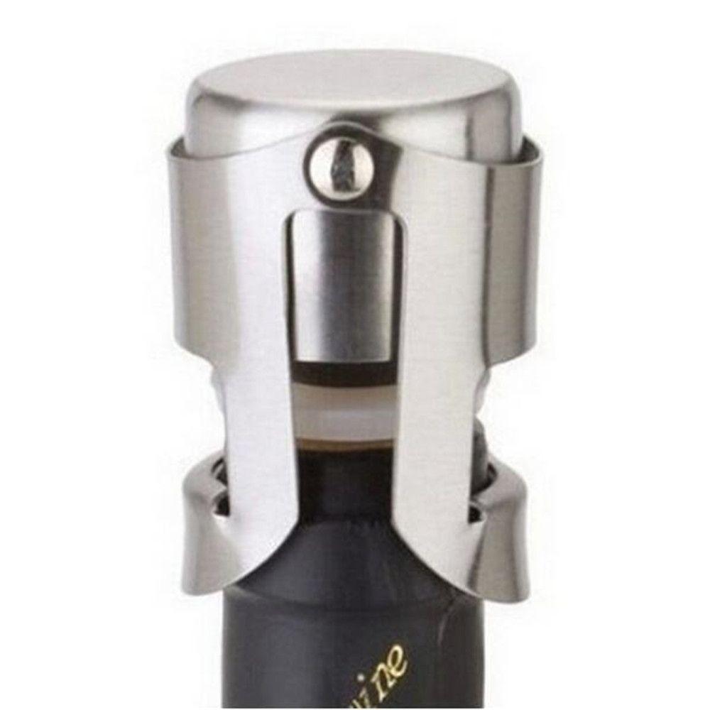 Stainless Steel Wine Bottle Stopper Liquor Bottle Stoppers Plug Sealer Pourers Champagne Bottle Cap Stopper