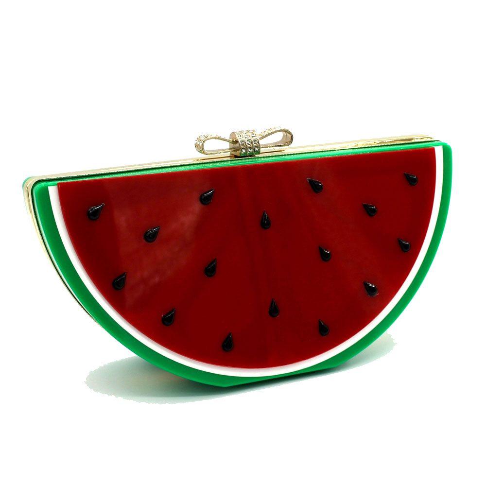 2016 Top Flap Linen Day Clutches Single Chains Unisex Open Pocket Versatile New Cute Fruit Shape Hand Bag