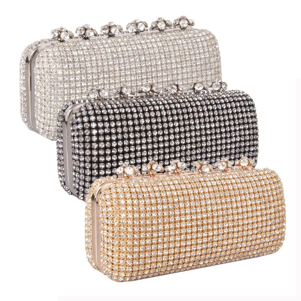 Women Bags Glasses Evening Bag Rhinestone Sparkling Glitter for Wedding Event/Party
