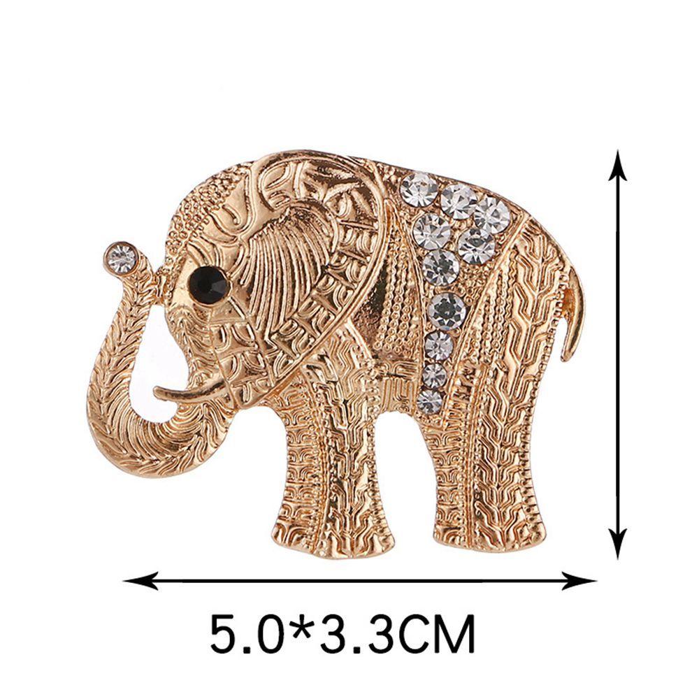 Women Girls Mens Crystal Rhinestone Elephant Pendant Brooch Fine Jewelry Gifts Ornament
