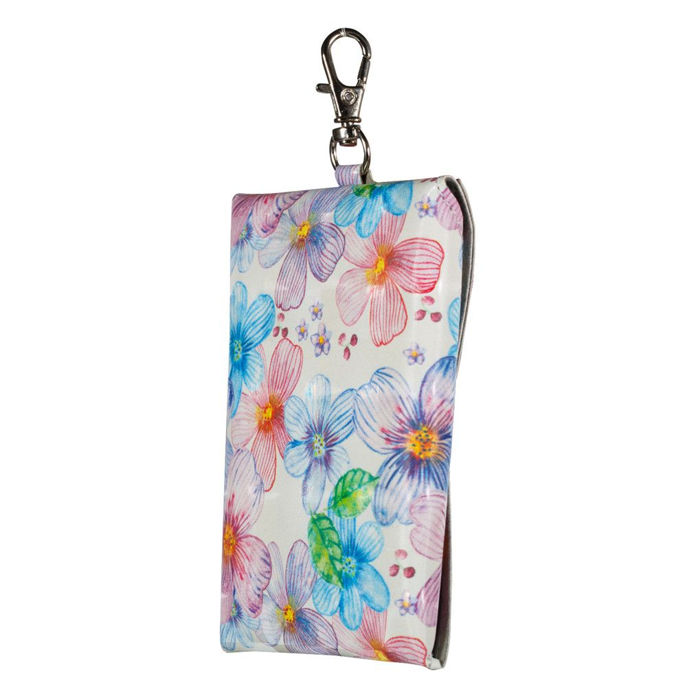 New Fashion A Rectangle PU Leather Flowers Small Wallet Zero Purse Key Coin Bag