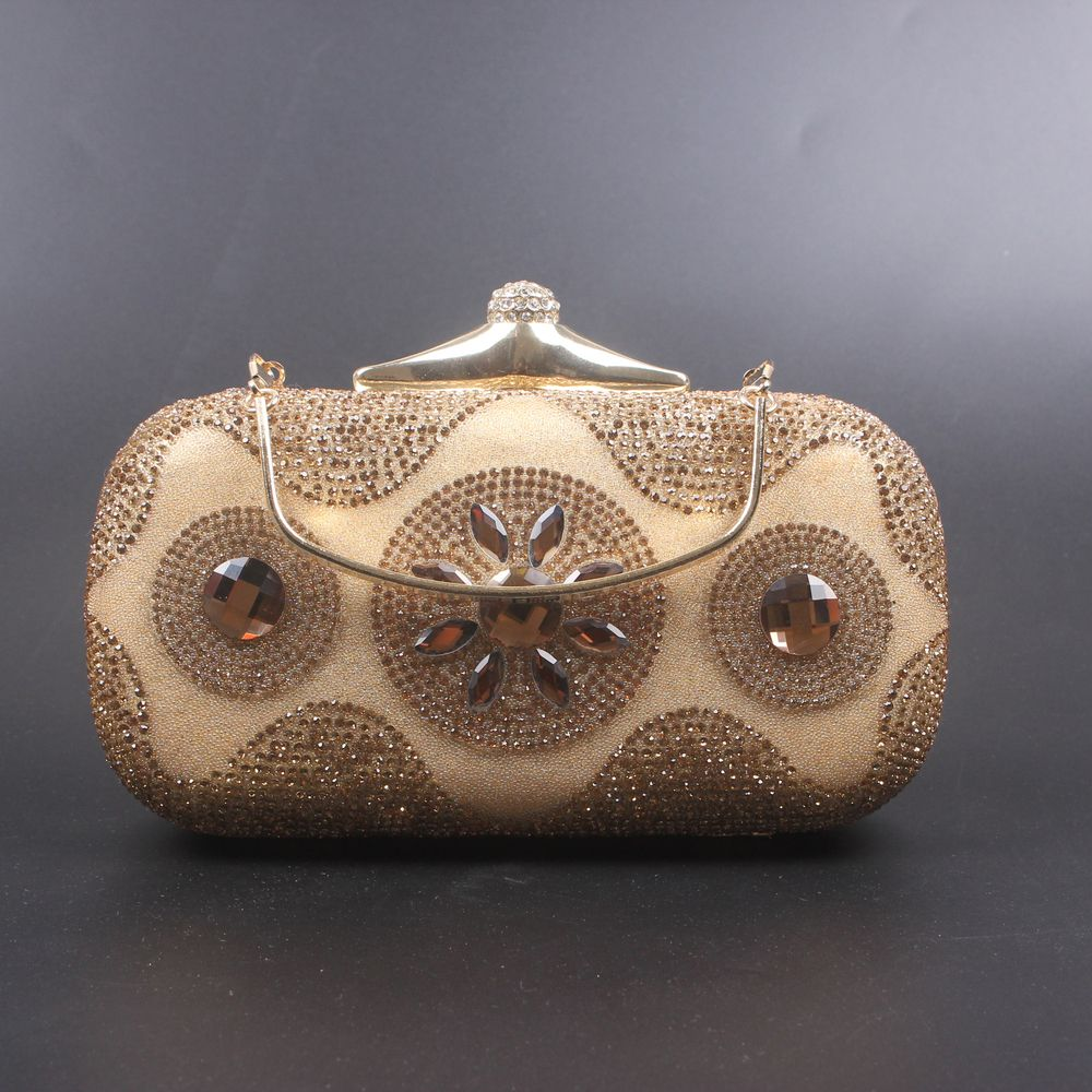 Women Bags Poly Urethane Evening Bag Crystal/ Rhinestone for Wedding Event/Party