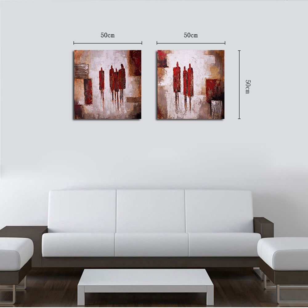 QiaoJiaHuaYuan No Frame Canvas Living Room Sofa Background Decoration Hanging Picture Simple and Abstract Double - Linke
