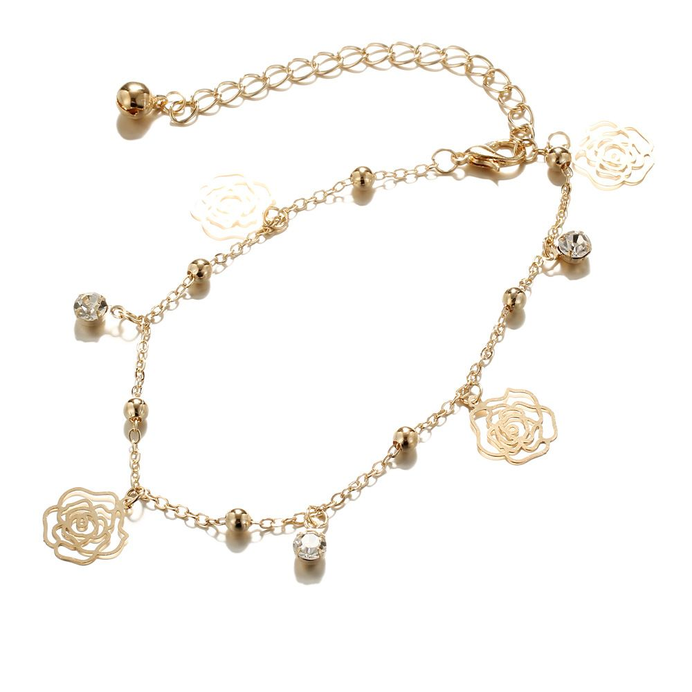 Small Bells Copper Beads Butterfly Anklets