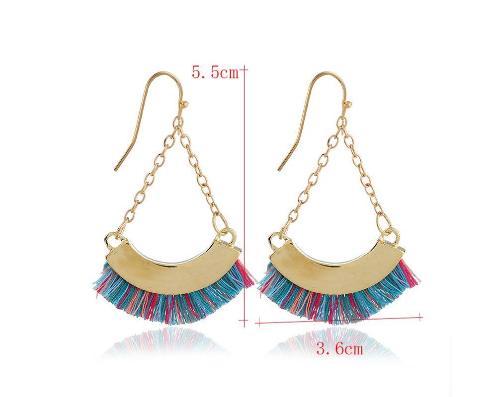 2018 fashion good quality triangle tassel earrings fashion women statement dangle drops earrings. Black Bedroom Furniture Sets. Home Design Ideas