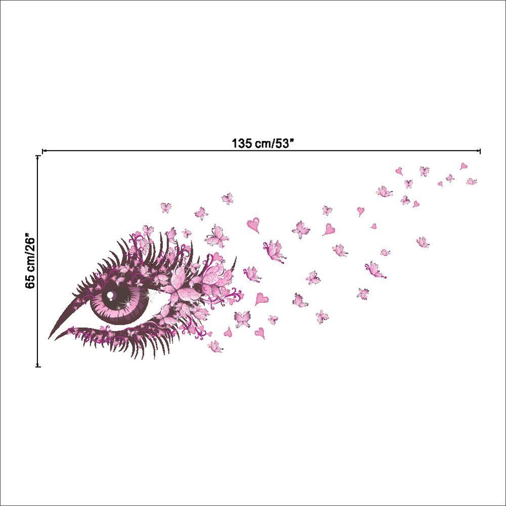 Pink Eye Butterfly Creative Decals For Home Decoration Removable Wall Art Picture