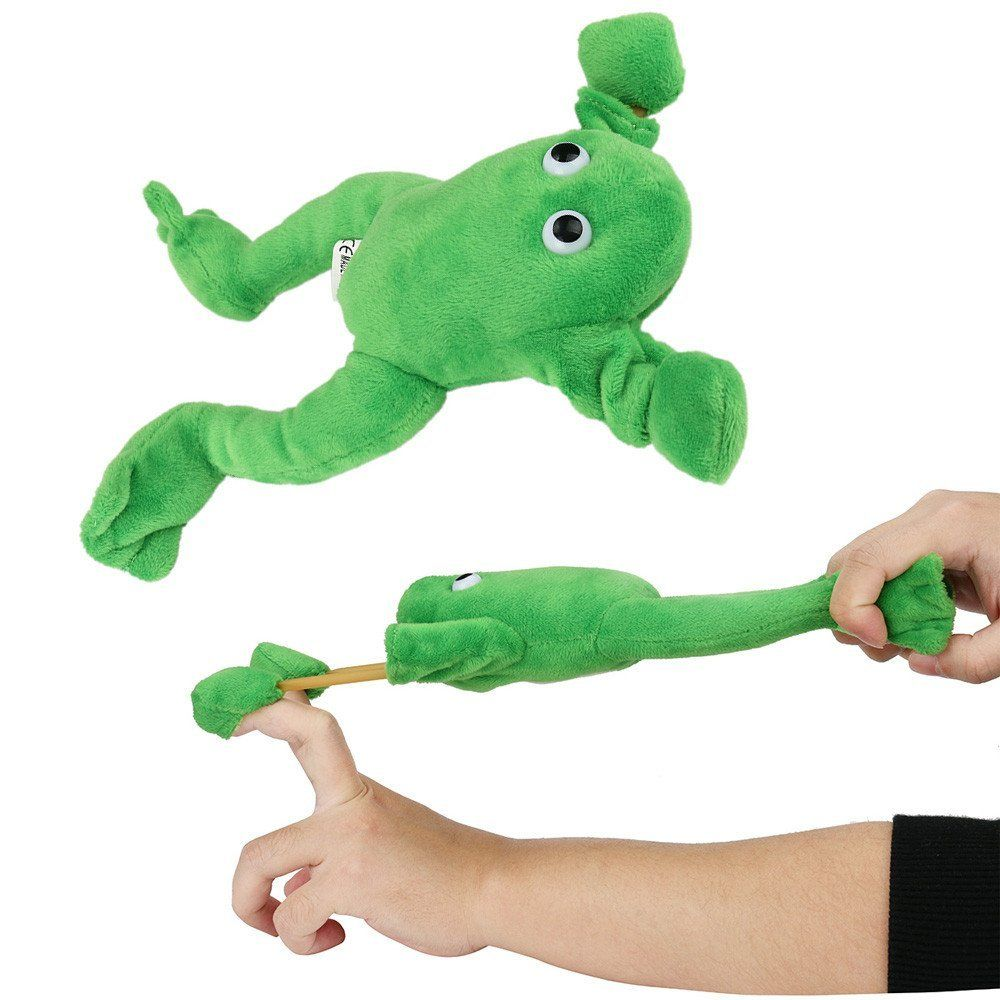 New Funny Paw Toys Lovely Novelty Flying Frog Screaming Slingshot Plush Kids Gift