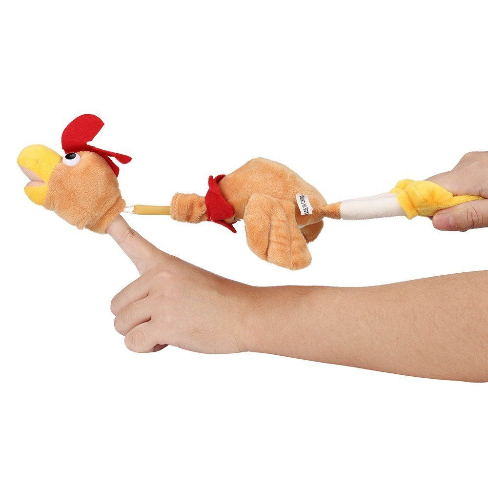 New Funny Paw Toys Lovely Novelty Flying Rooster Screaming Slingshot Plush Kids Gift