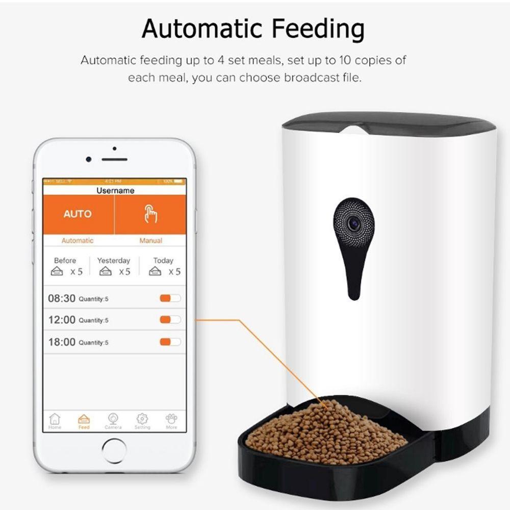 PetFun Wifi Remote Control Fashion Smart Automatic Pet Feeder