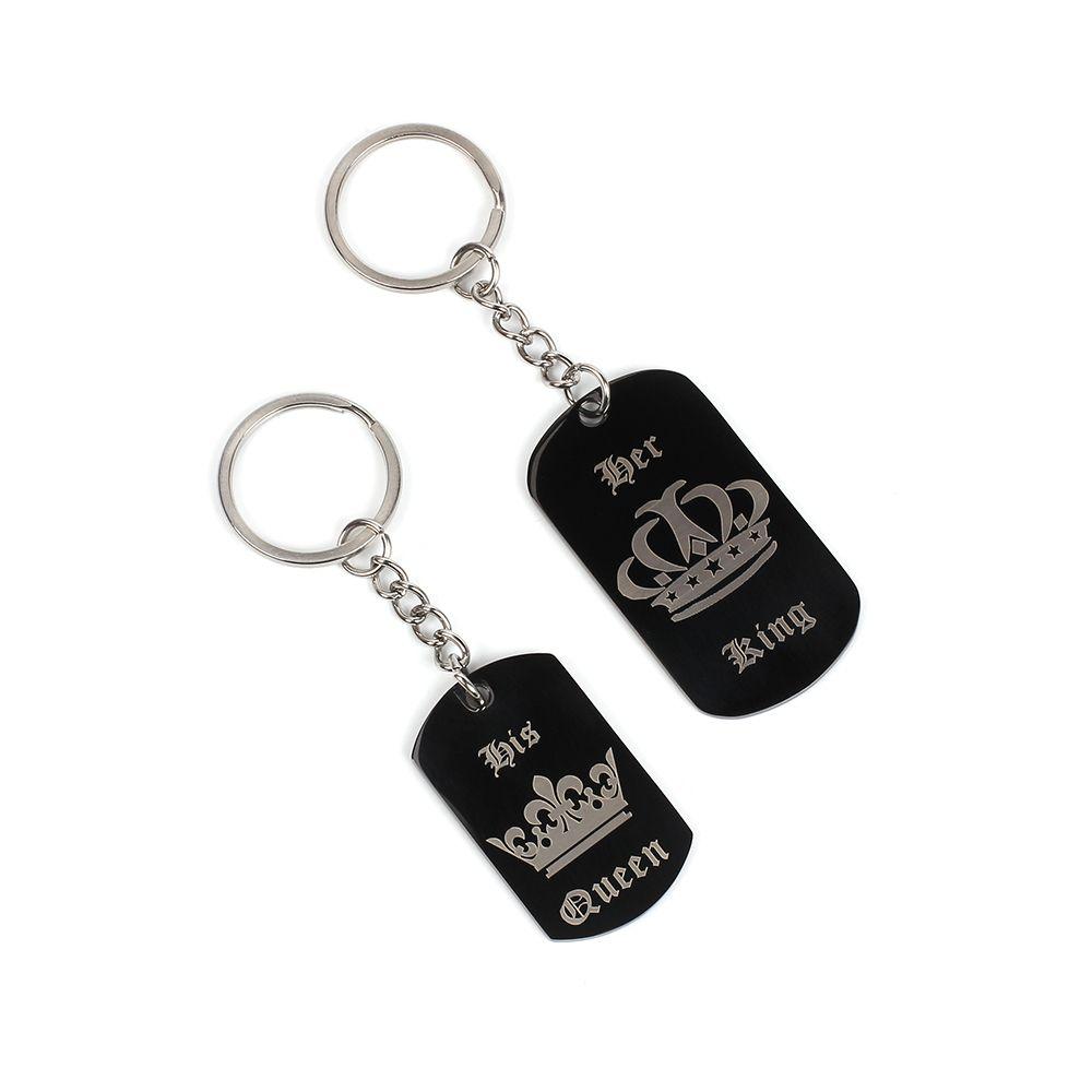 Creative Fashion Couple Crown Letter Key Chain