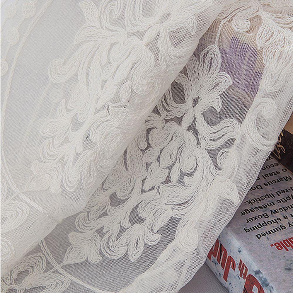 European Embroidered White Yarn  High Grade Embroidery Window Yarn