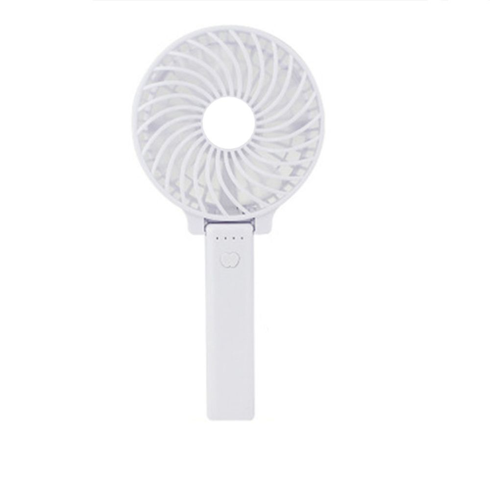USB Handheld Fan Mini Portable Outdoor Electric  with Rechargeable Battery Adjustable 3 Speeds
