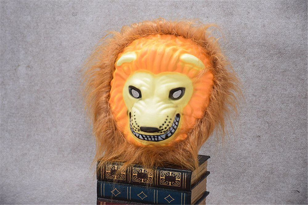 Mane Latex Mask Creepy Animal Tiger/Lion/Monkey/ Partern Full Face Halloween Costume