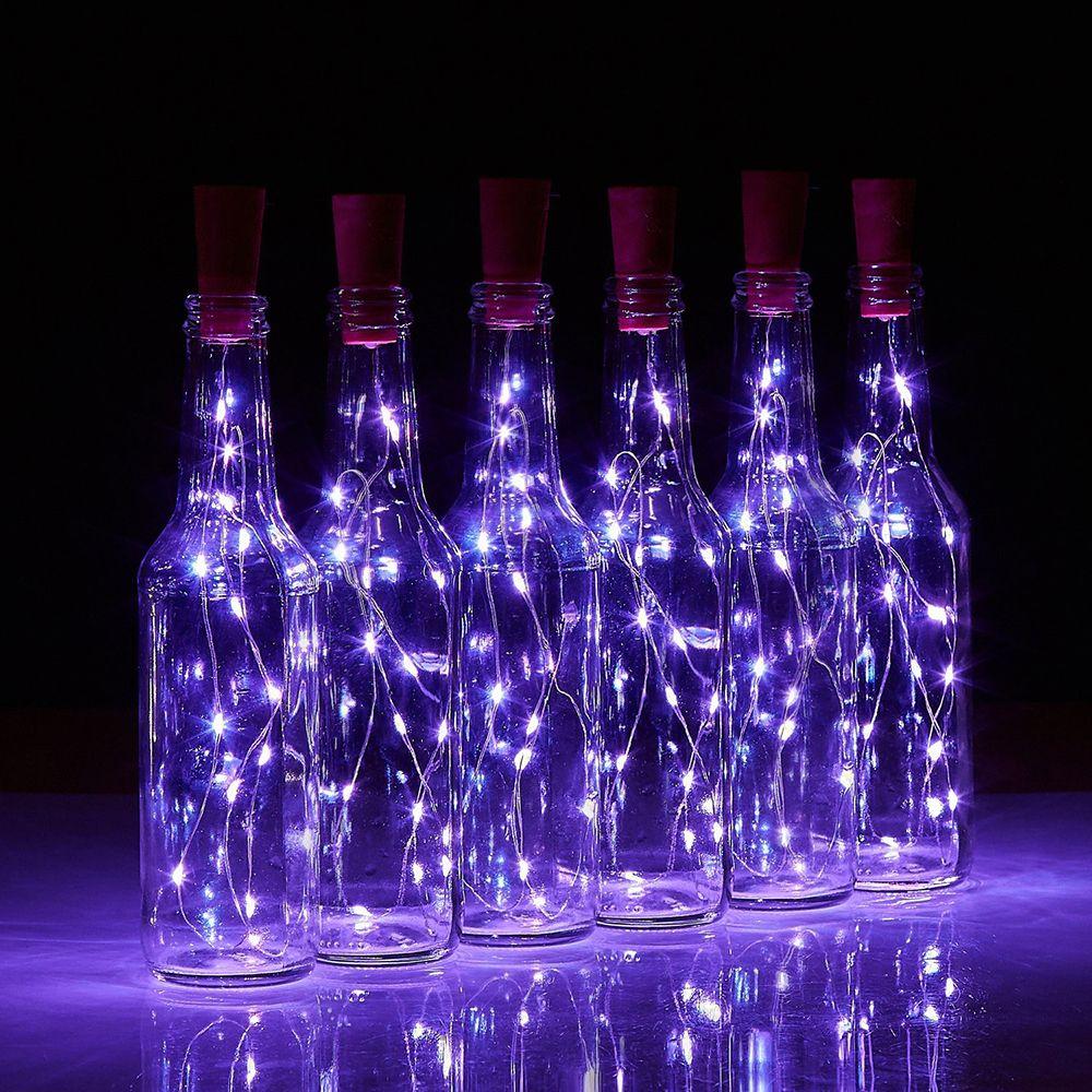 BRELONG 10LED Wine Stopper Brass Lights Decorative Light String