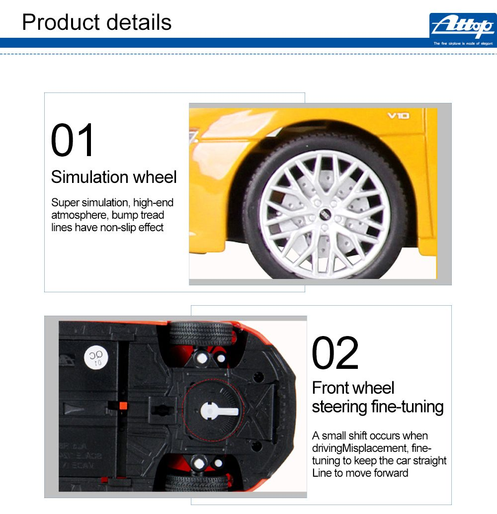 Attop 1815 1:24 Emulational Audi Remote Control Car