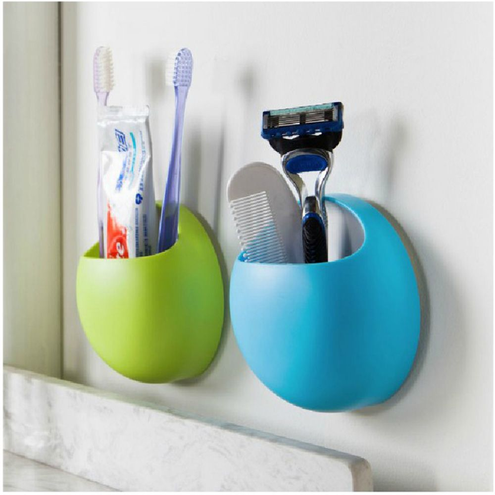Multifunctional Bathroom Toothpaste Toothbrush Holder Sucker Debris Storage Box