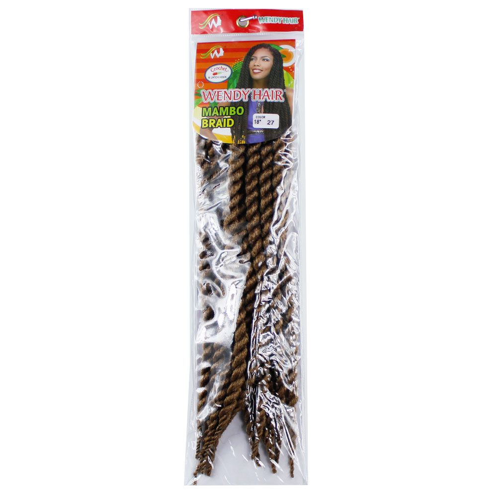 One Pack 18 inch Havana Twist Crochet Hair Mambo Twist Synthetic Extension Natural Black