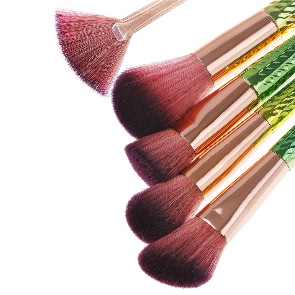 Colorful Waistline Makeup Brush 10PCS