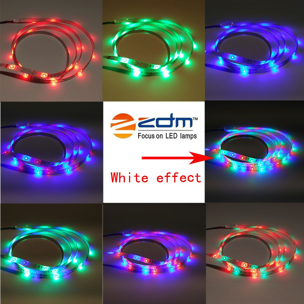 ZDM Waterproof 5M 2835RGB LED Light Strip and IR44 Controller 12V/3A Power Supply AC100-240V