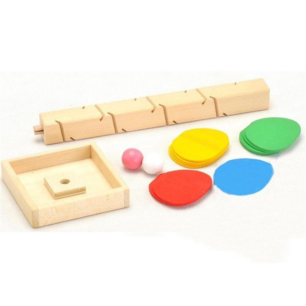 Spiral Ball Game Toy Educational Wooden Tree Marble Kid Child Tower Build Baby