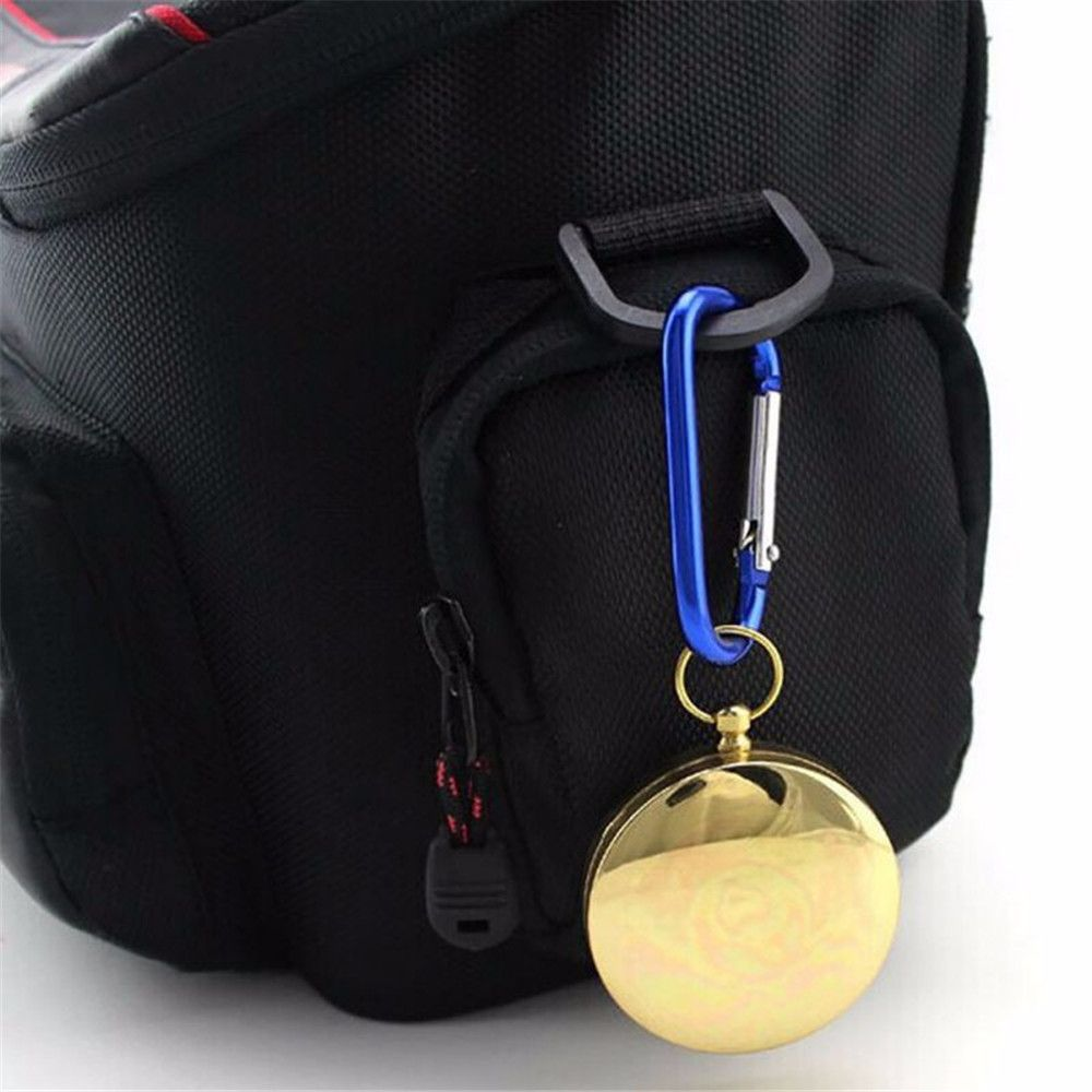 Camping Hiking Portable Brass Pocket Golden Compass Navigation for Outdoor Activities