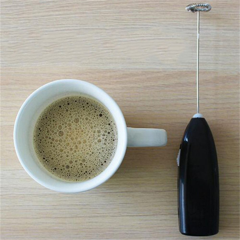 Fashion Hot Drinks Milk Frother Foamer Whisk Mixer Stirrer Egg Beater Electric Mini Handle