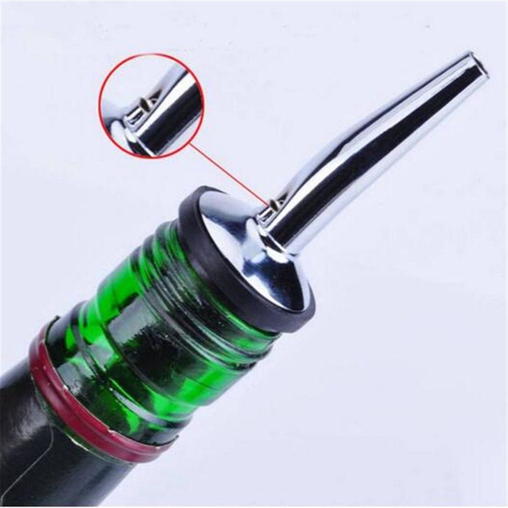 Stainless Steel Bottle Caps Liquor Spirit Pourer Dispenser Free Flow Wine Bottle Pour Spout Stopper Barware