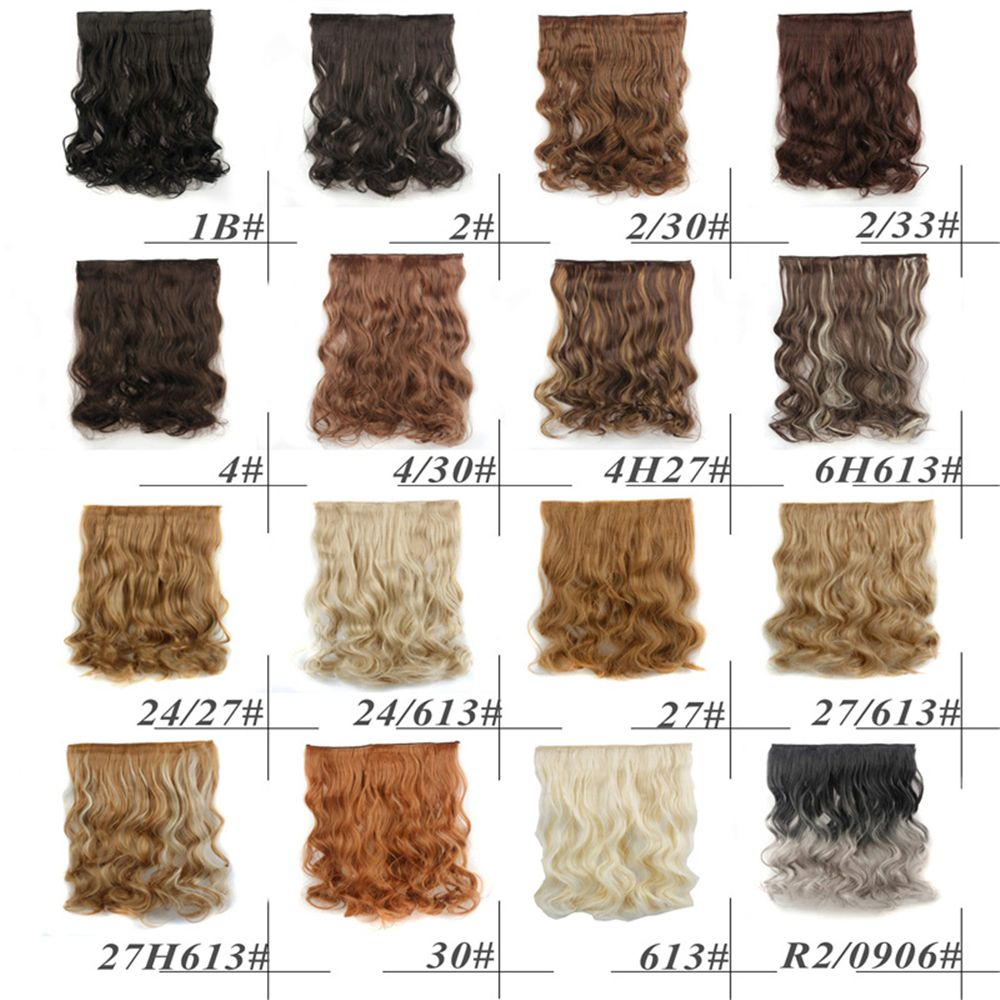CHICSHE 17 Colors Long Wavy High Temperature Fiber Synthetic Clip in Hair Extensions for Women