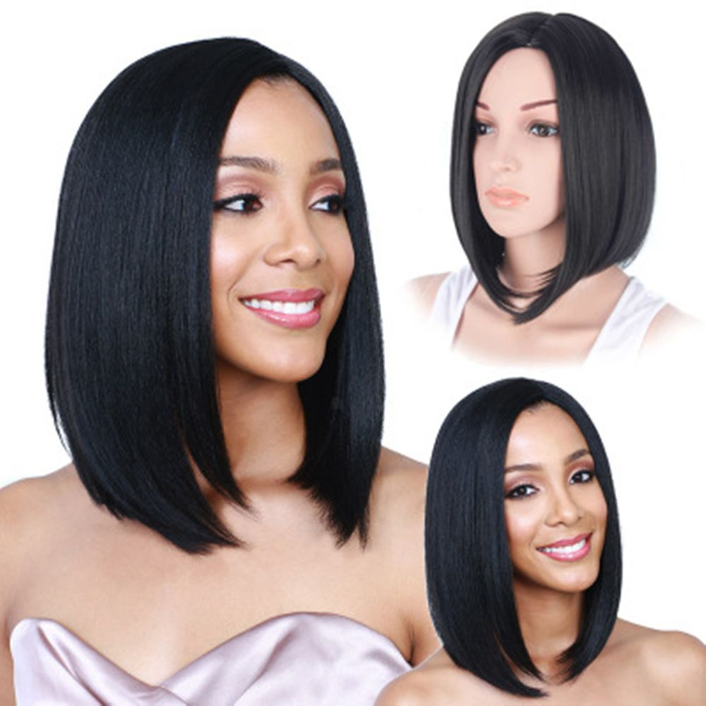 CHICSHE Synthetic Short Wigs for Black Women Black Bob Pixie Cut Hair