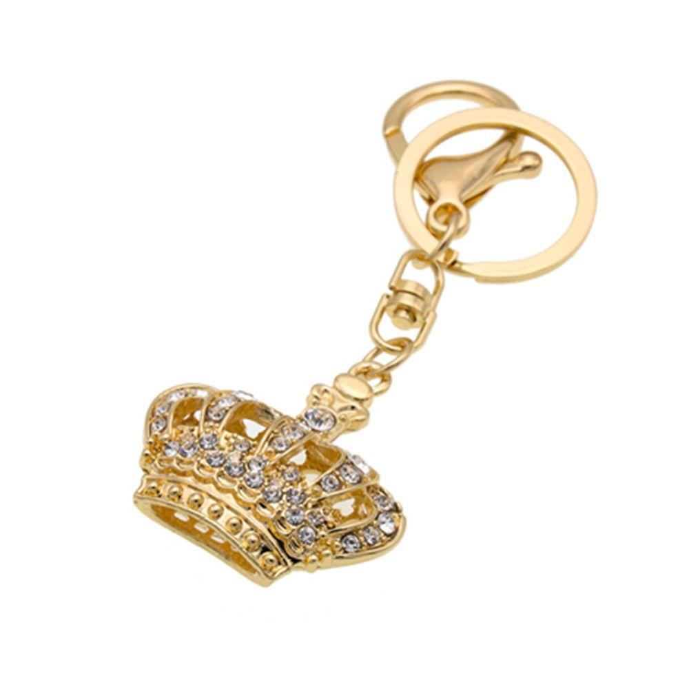 Diamondo Shape Keychains Women Fashion Rhinestone Bag Pendant Car Key Accessories