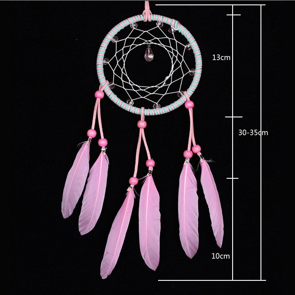 Sweet Pink Crystal Dreamcatcher