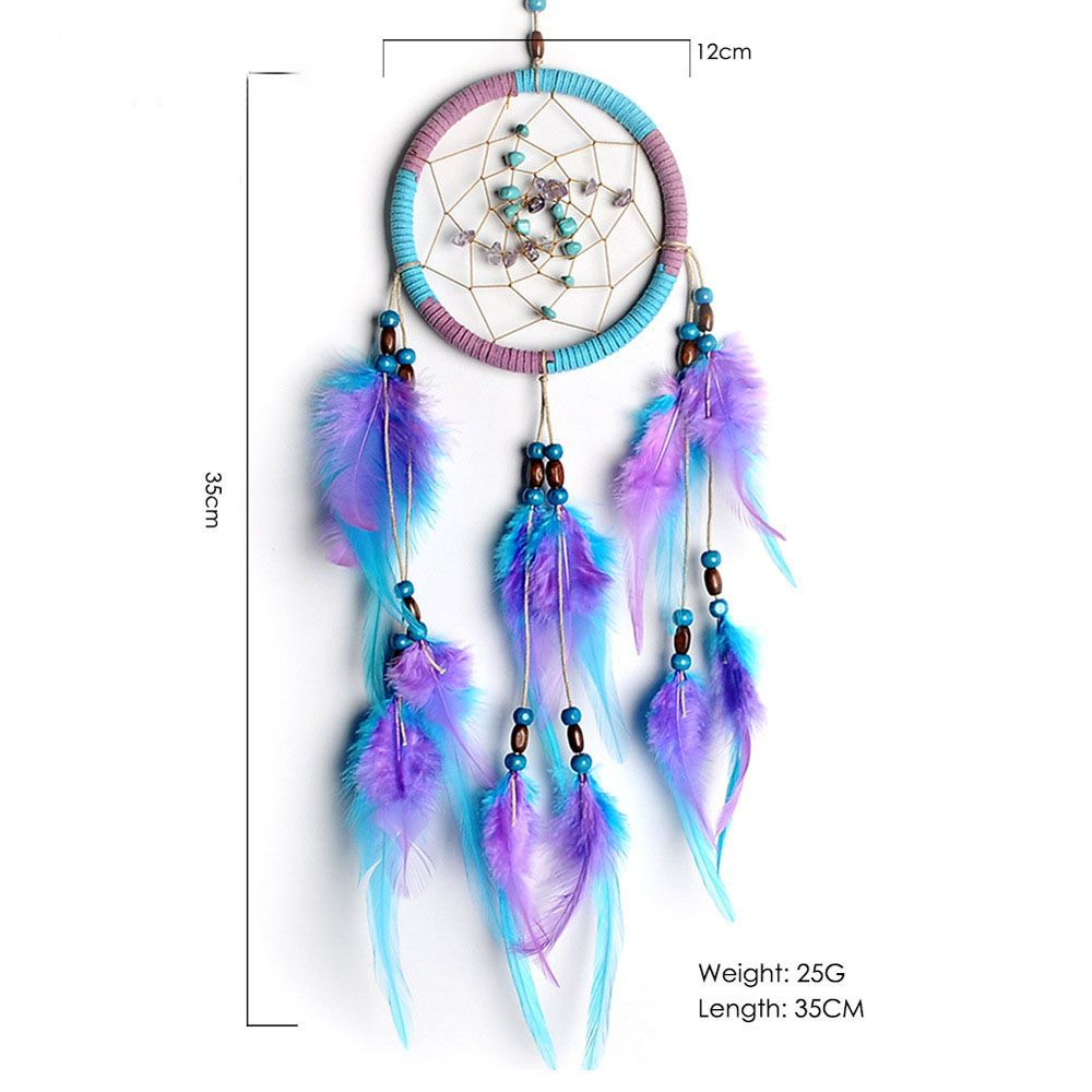 The New Violet Lucky Stone Dreamcatcher Household Pendant