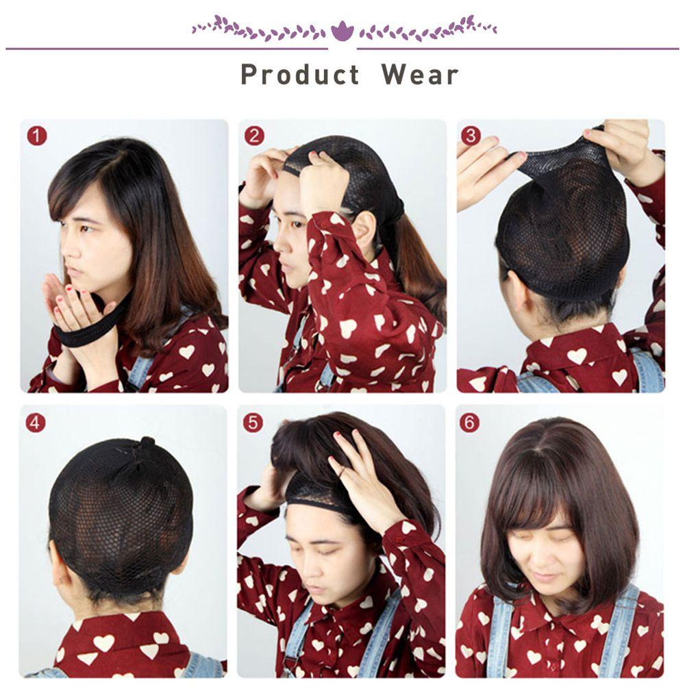CHICSHE Heat Resistant Straight Bob Short Synthetic Wig Black Hair