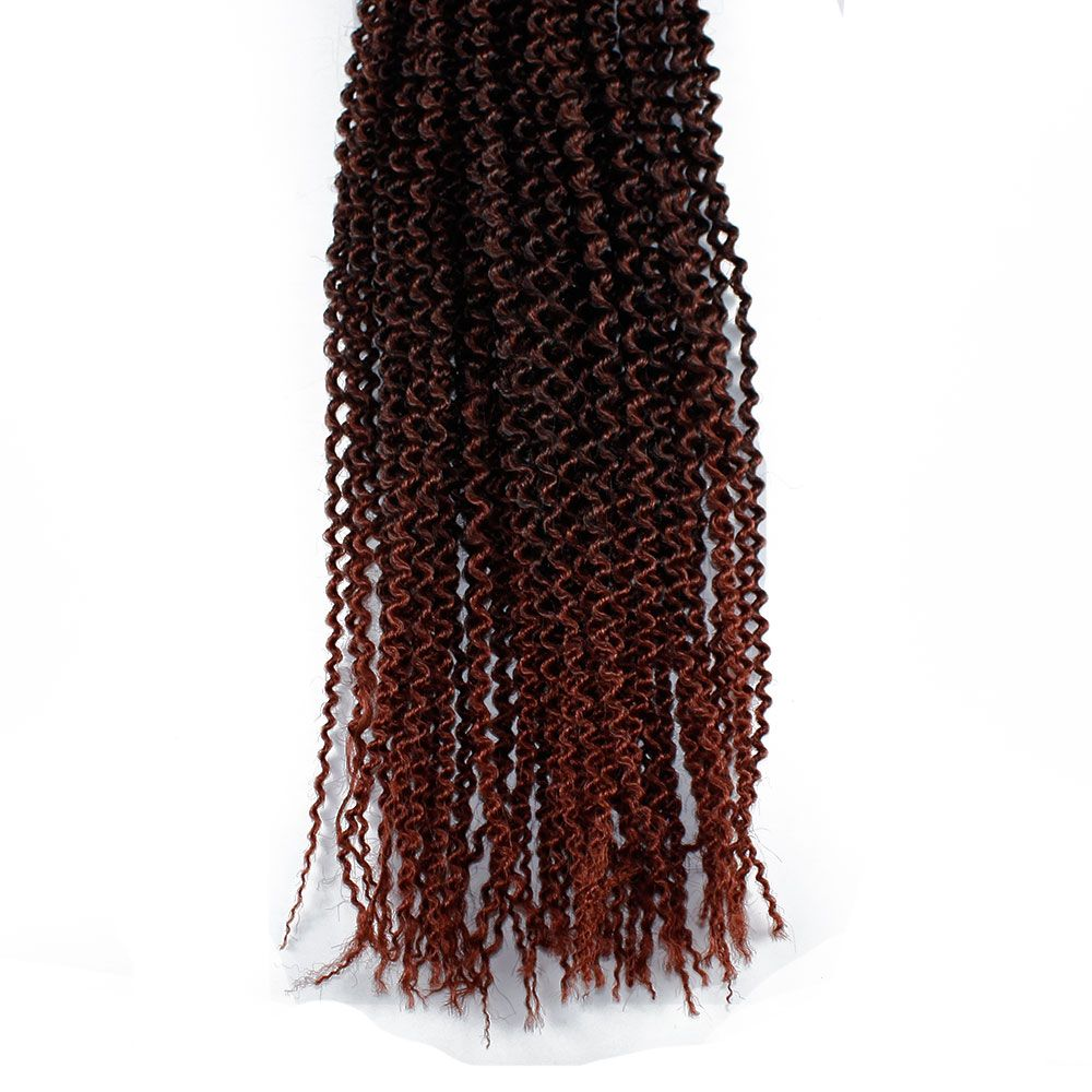 18 inch Synthetic Kinky Curly Hair Extension for Black Woman Brown Color