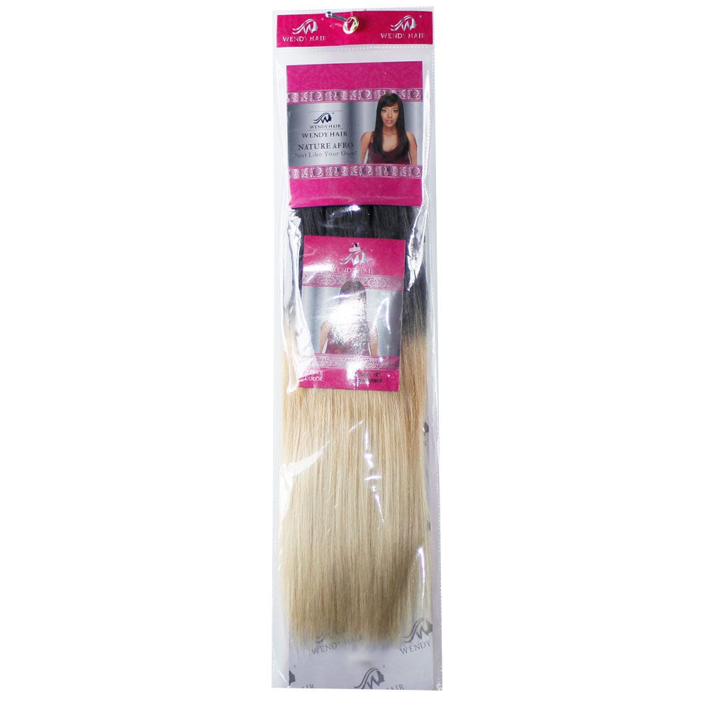 Ombre Synthetic  Straight Hair Extensions Hairpieces for Women 2PCS