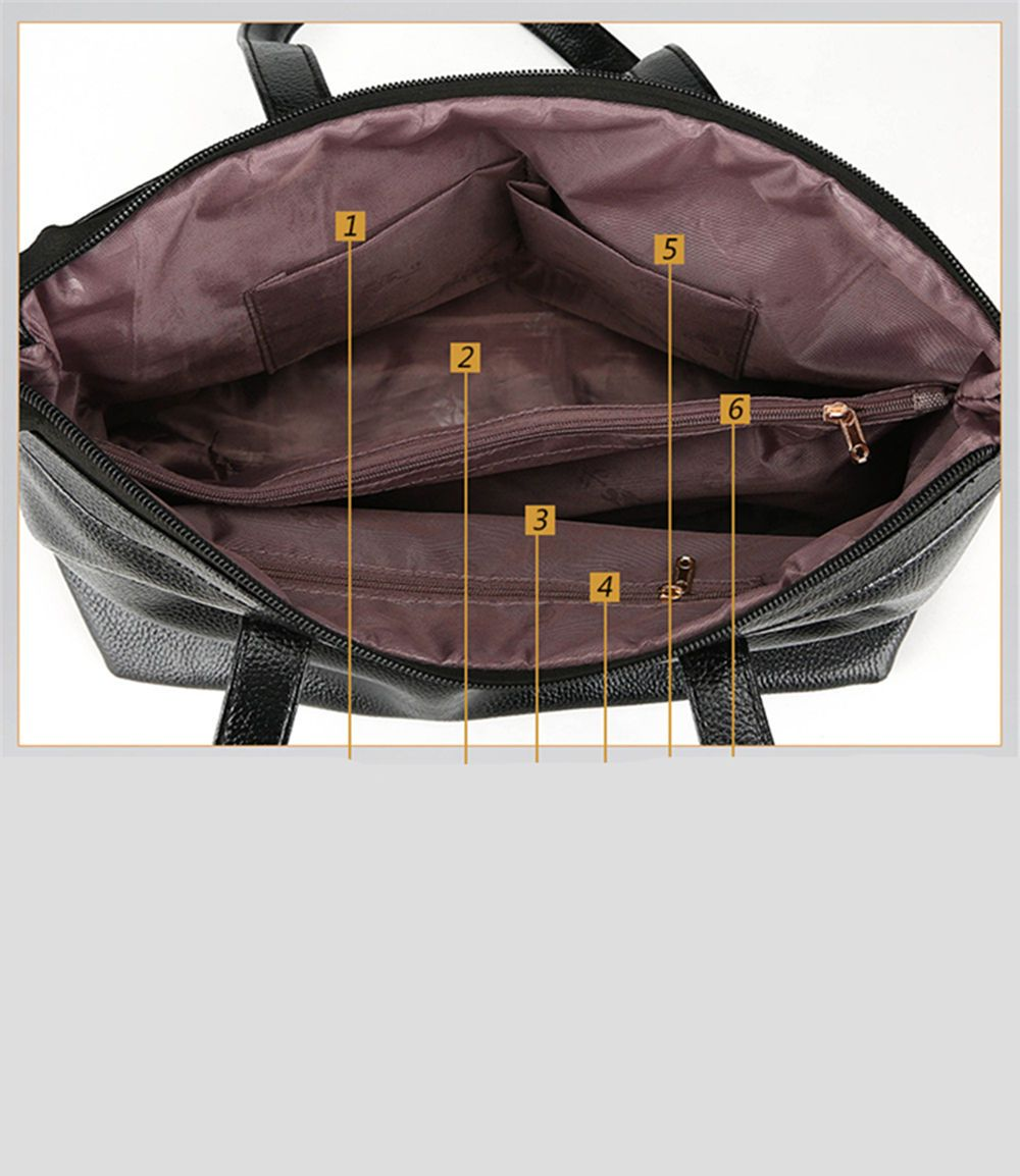 Fashion Soft Leather Lady Casual Shoulder Messenger Bag
