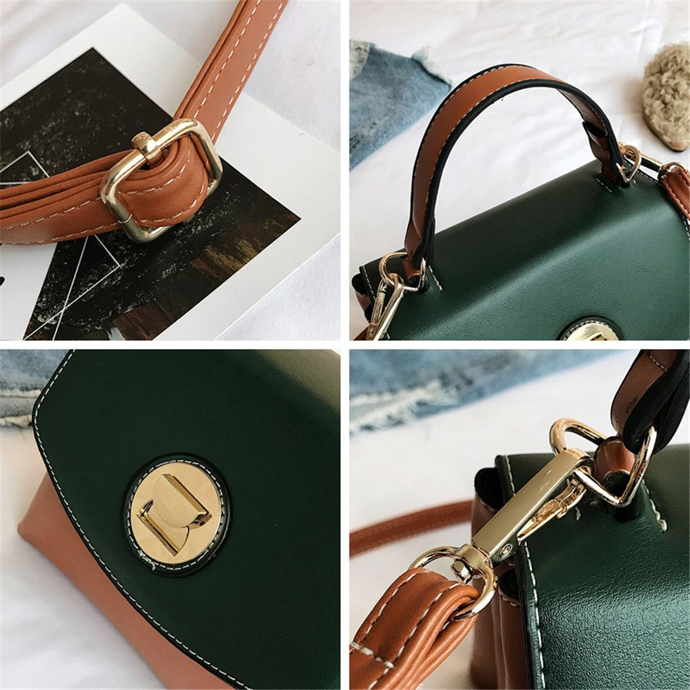 Female Fashion Simple Wild Portable Shoulder Messenger Small Square Package
