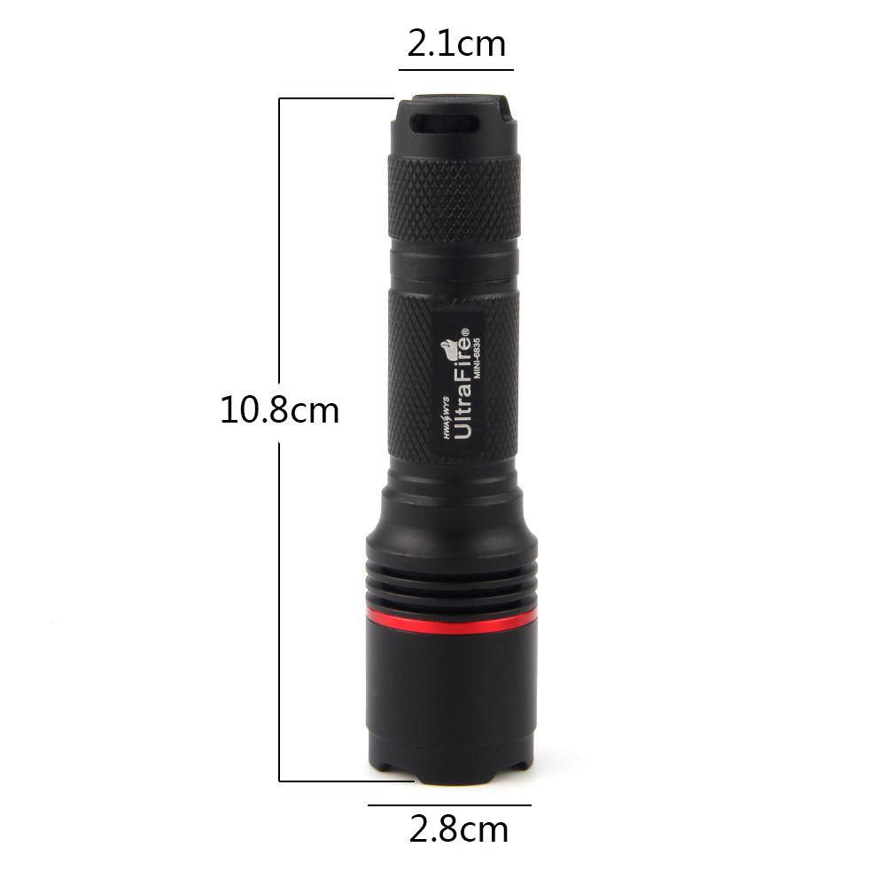 UltraFire MINI - 6835 XM-L2 800LM 3-Position Grip Flashlight