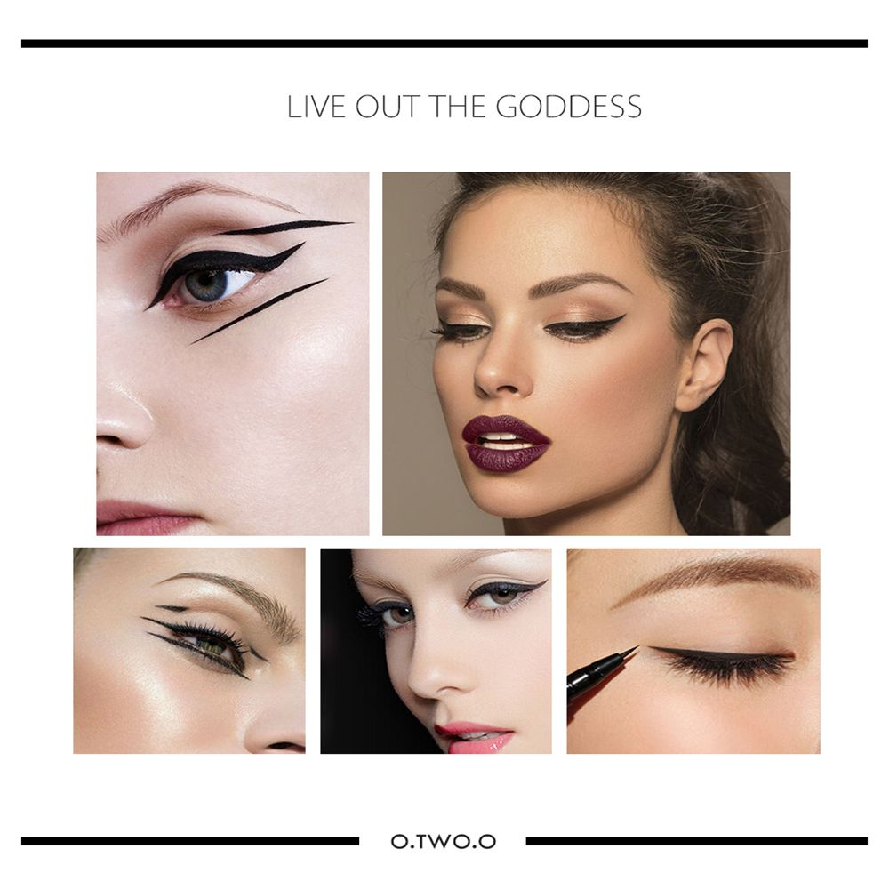 OTWOO New Beauty Cat Style Black Long-lasting Waterproof Liquid Eyeliner Eye Liner Pen Pencil Makeup Cosmetic Tool