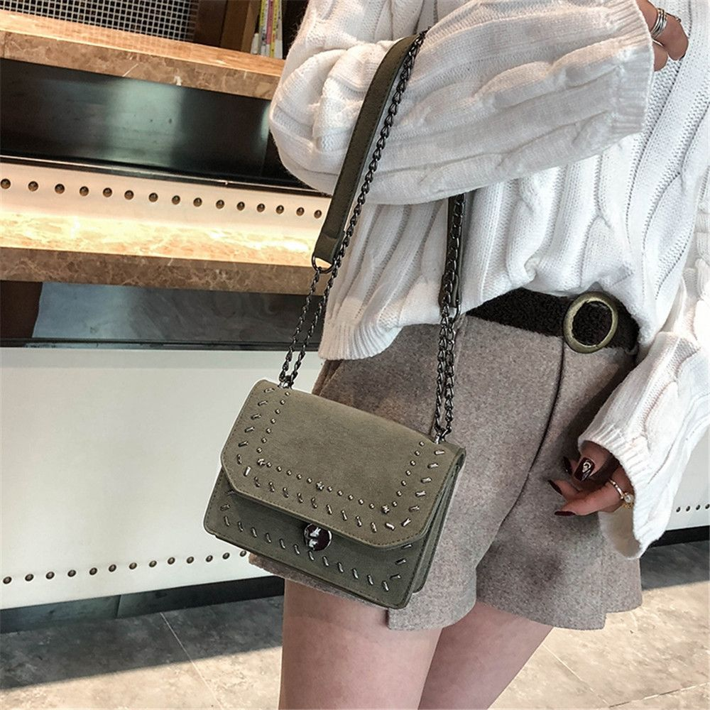 Female Rivet Chain Wild Shoulder Messenger Small Square Package
