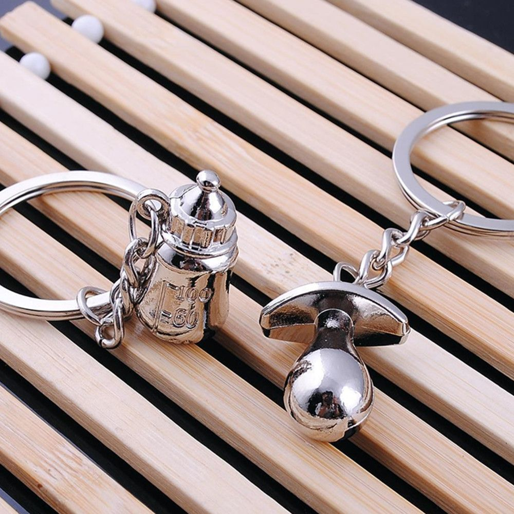 Cute Romantic Creative Gift Metal Couple Keychain Love Key Ring