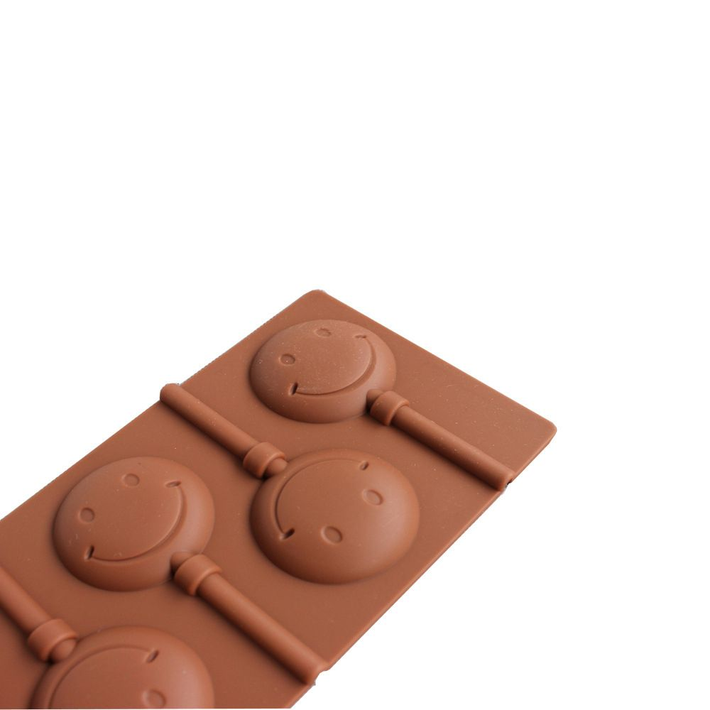 2 Pcs  Smile Face  Chocolate Lollipop Mold  DIY Baking Tools