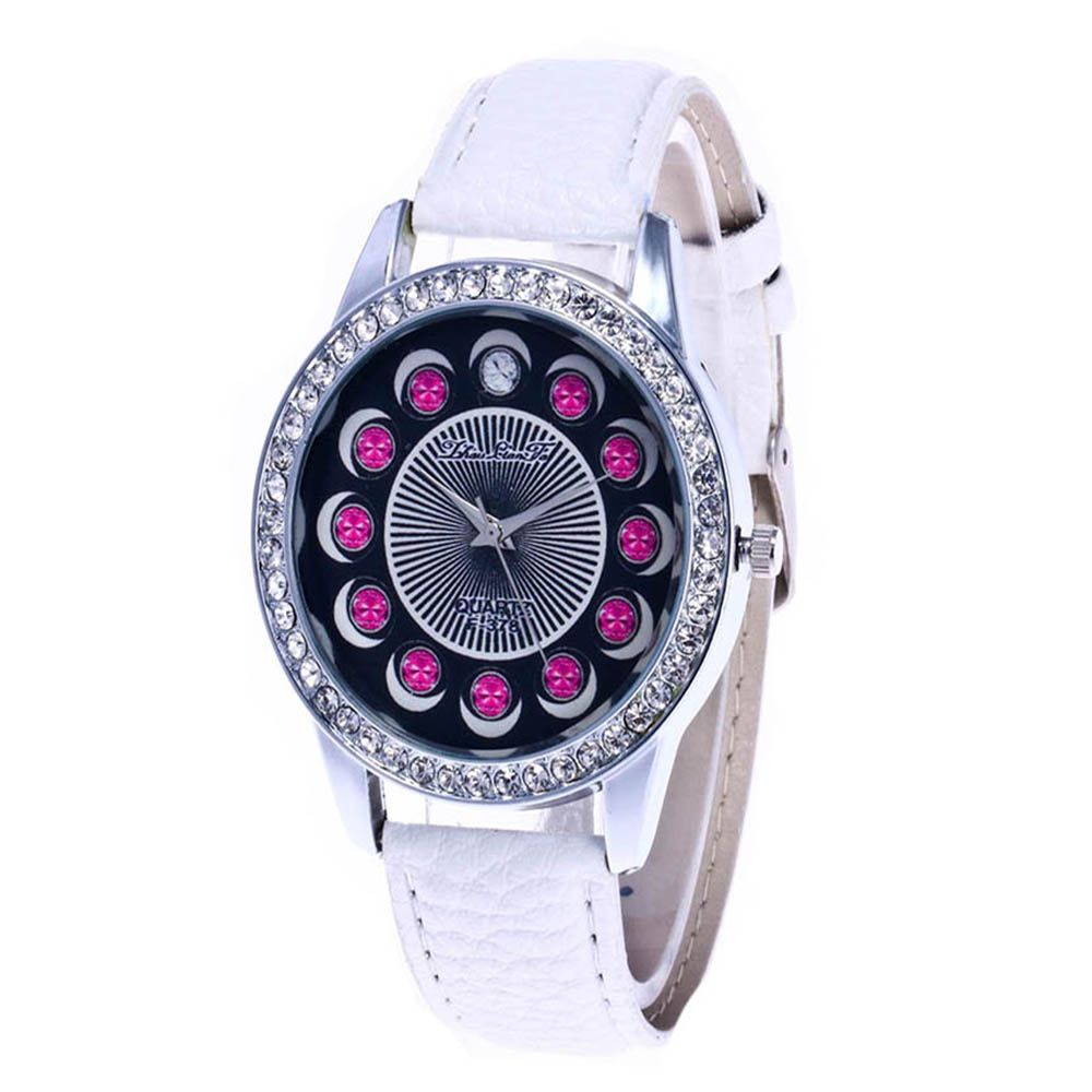 Zhou Lianfa Brand Diamond-encrusted Leather Watch