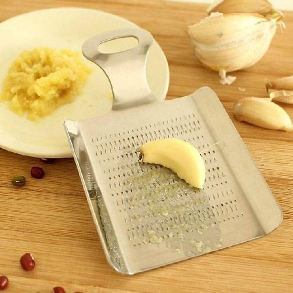 2 Pcs Stainless Steel Ginger Garlic Wasabi Crushed Press Device Kitchen Tools