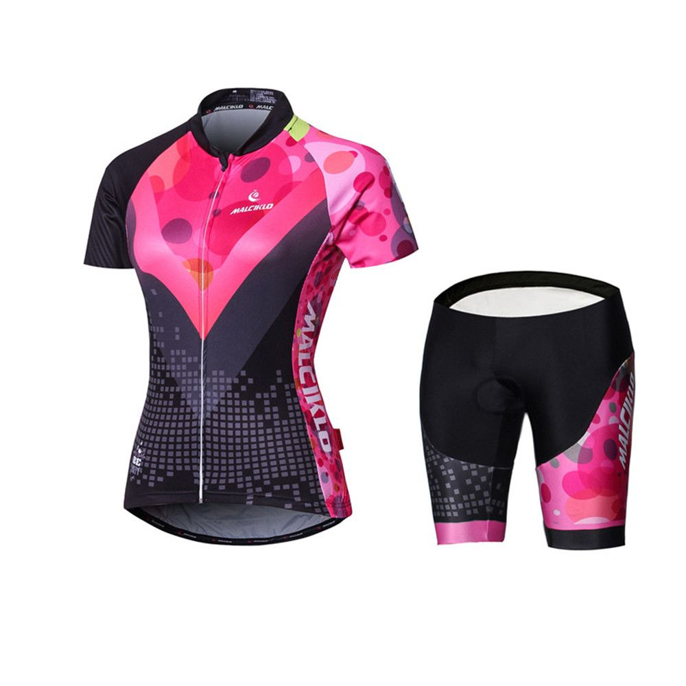 Malciklo 18 New Products Summer Cycling Jersey Tights Woman Short Bike Compression Suits