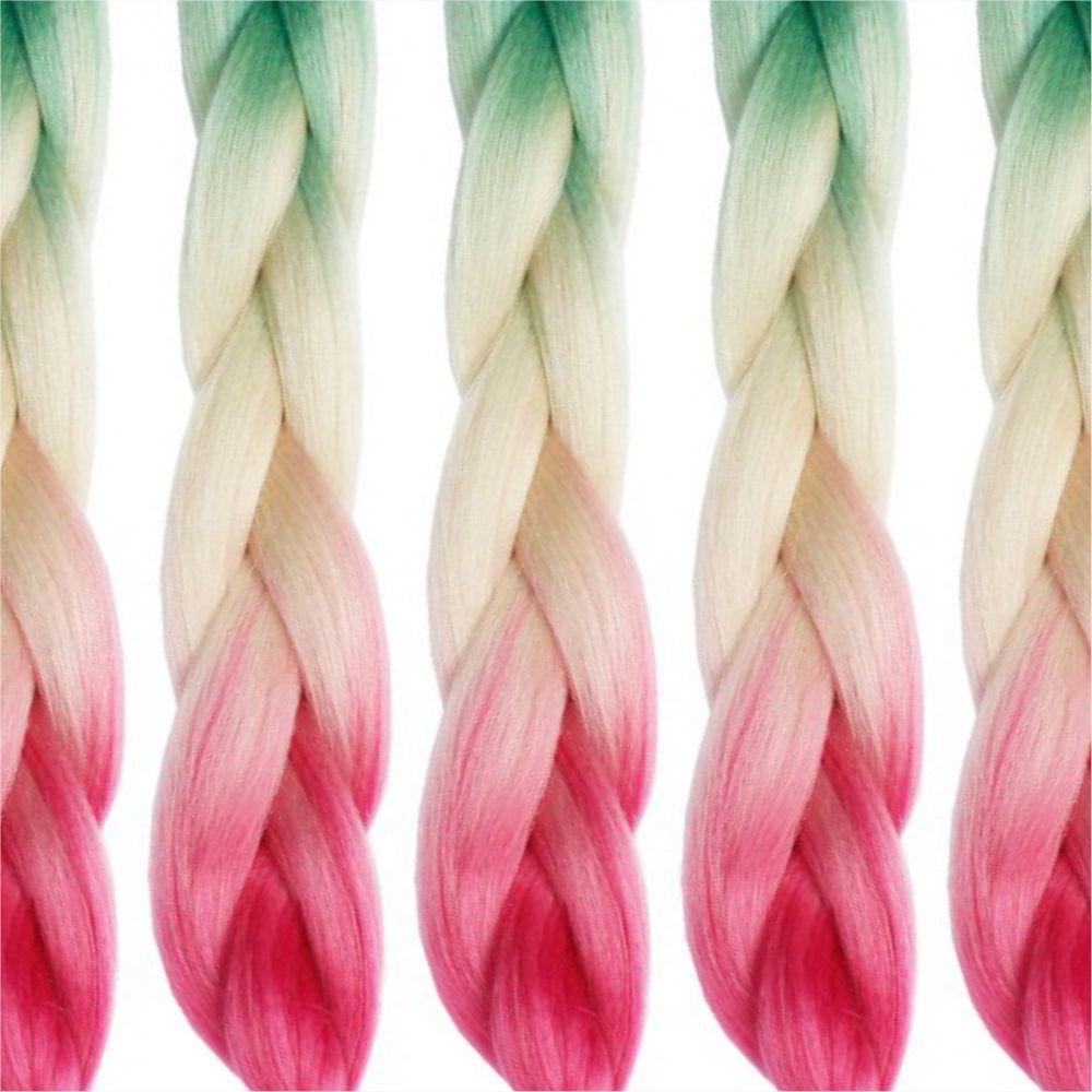 4 Tone Jumbo Braiding Hair Extensions 24 inch Crochet Braids High Temperature Kanekalon Synthetic Fiber Twist 5PCS