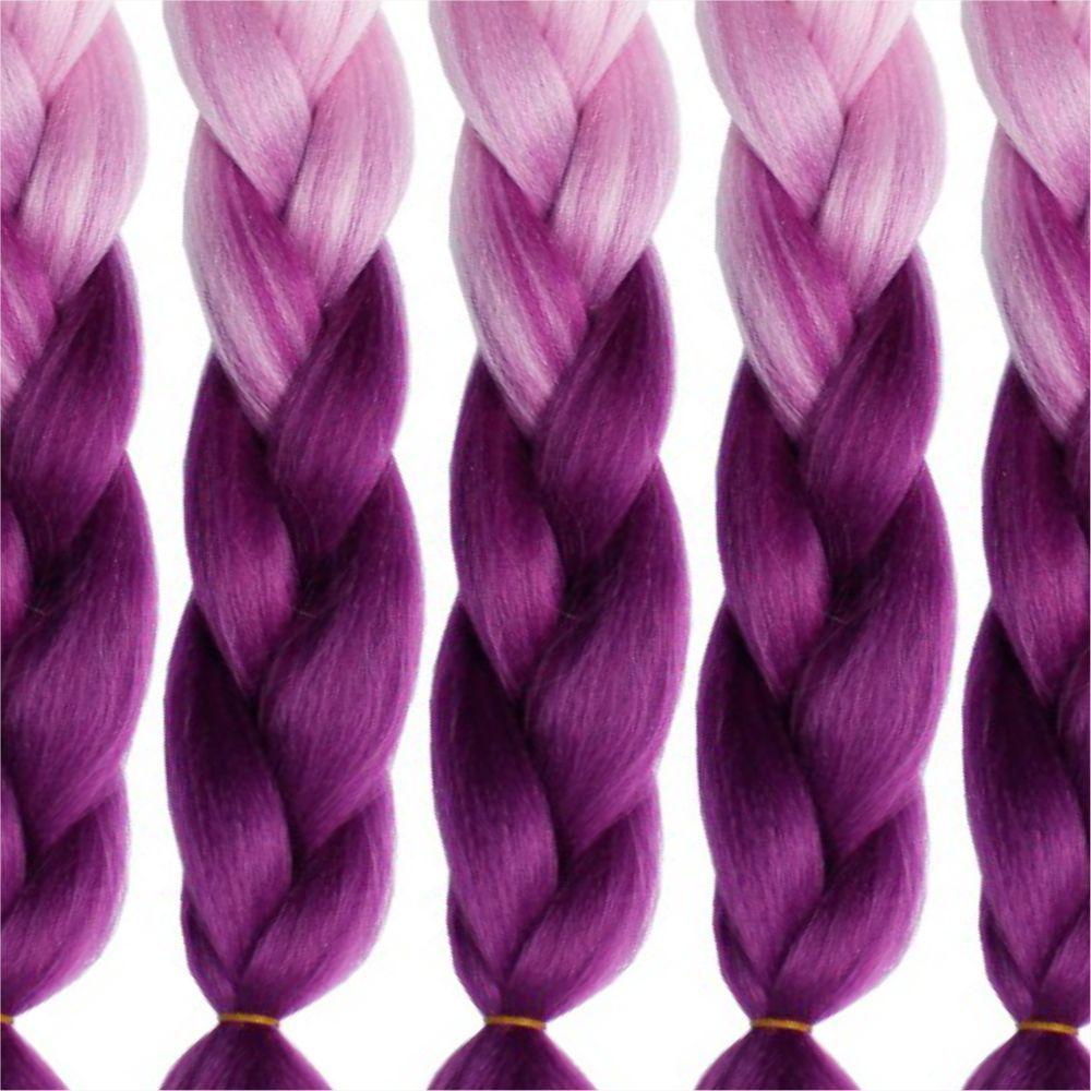 2 Tone Jumbo Braiding 24 inch Crochet Braids High Temperature Kanekalon Synthetic Fiber Twist 5PCS