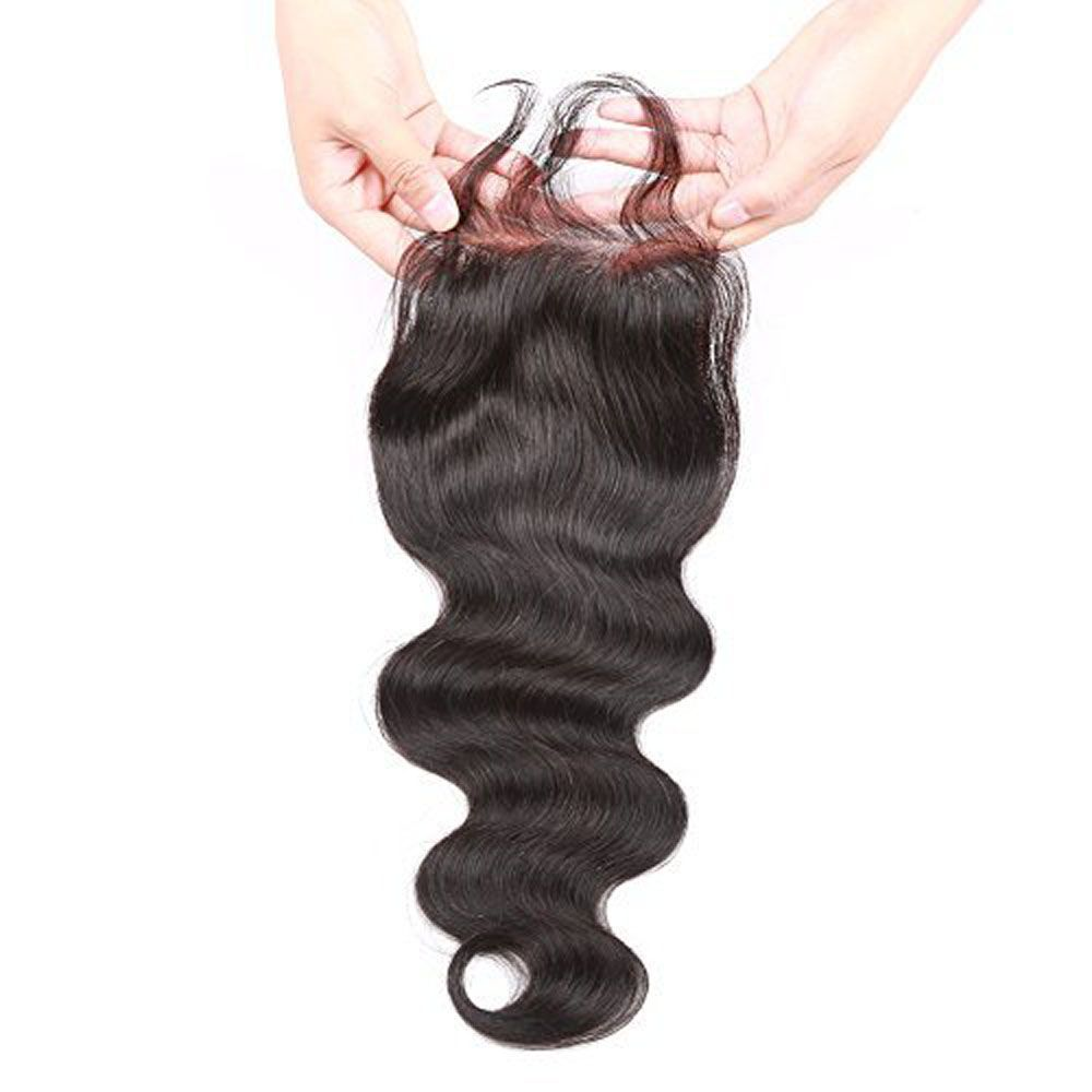 Brazilian Body Wave Lace Closure  Hair Natural Color